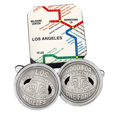 Transit Token Los Angeles Cufflinks