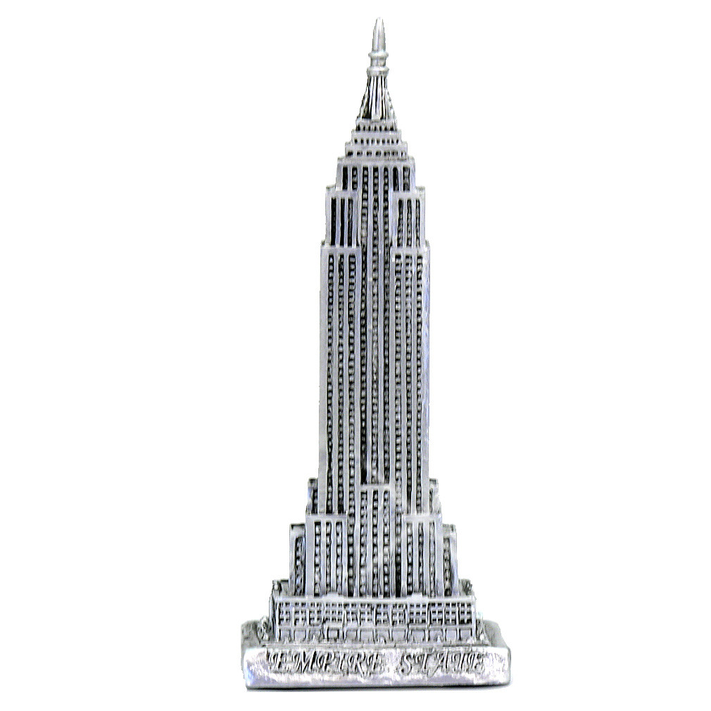 Pewter Empire State Building Statue