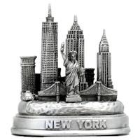 Silver 3D Skyline New York City Replica Model