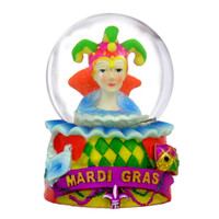 New Orleans Snow Globe with Mardi Gras Hat