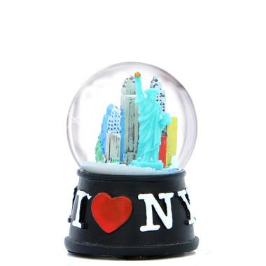I Love NY Snow Globe Black