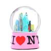 Pink NYC I Love NY Snow Globe
