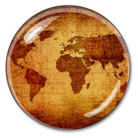 Cyrstal Antique World Globe Paperweight