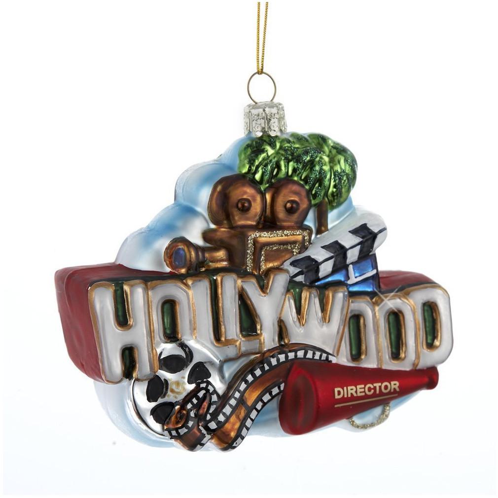Hollywood Sign Christmas Ornament Glass