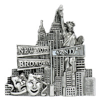 Landmarks Silver New York City Magnet