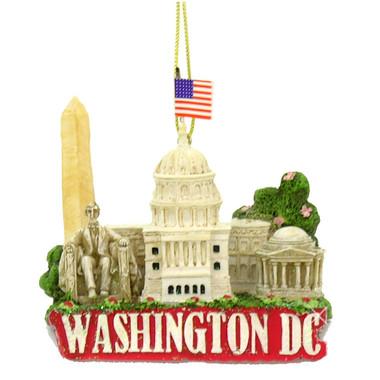 Washington DC Skyline Landmarks Christmas Ornament