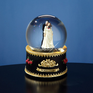 Rotating Musical Phantom and Christine Snow Globe