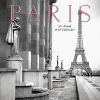 Paris Calendar, Black and White Paris Wall Calendar