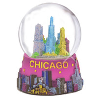 Mini Chicago Snow Globe, Skyline