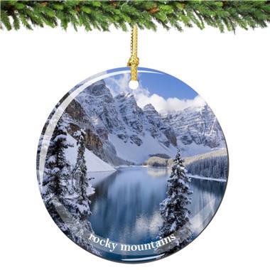 Colorado Rocky Mountains Christmas Ornament