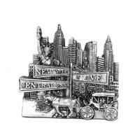 Silver Central Park Magnet 3D Souvenir