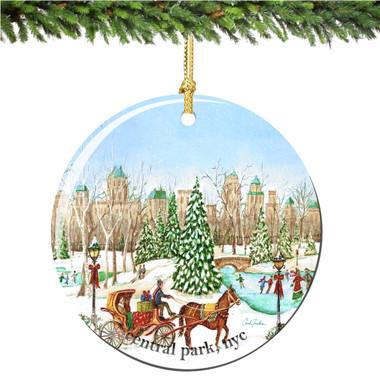Chuck Fischer's Central Park Christmas Ornament