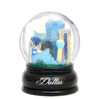 65mm Dallas, Texas Snow Globe