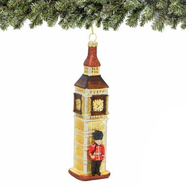 Royal Guard and Big Ben Christmas Ornament, Glass