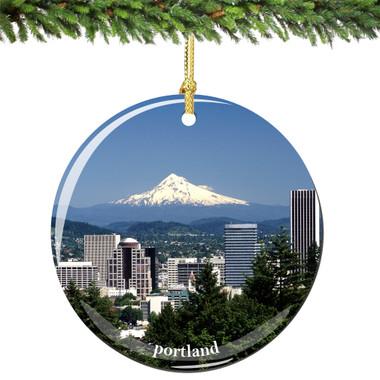 Portland Oregon Christmas Ornament