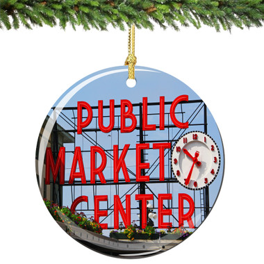 Seattle Pike Place Christmas Ornament