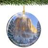 Yosemite National Park Porcelain Christmas Ornament, El Capitan