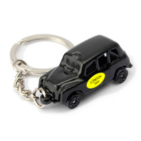 London Taxi Key Chain, Black Die Cast