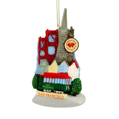 San Francisco Landmarks Ornament for Personalization