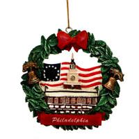 Philadelphia Wreath Ornament