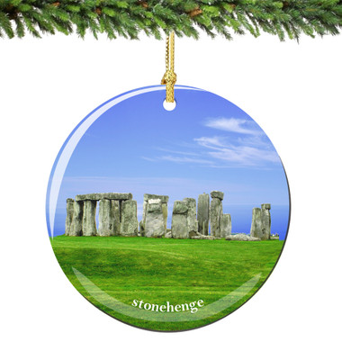 Stonehenge Christmas Ornament Porcelain