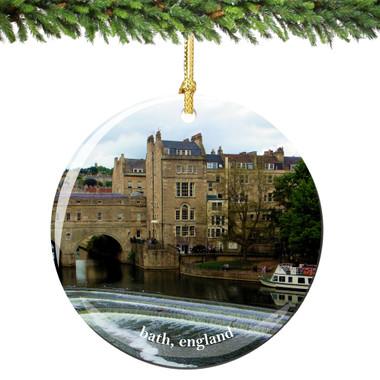 Bath England Christmas Ornament Porcelain
