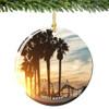 Santa Monica Christmas Ornament Porcelain