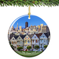 San Francisco Christmas Ornament Porcelain Skyline