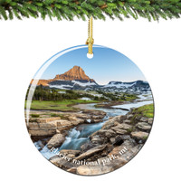 Glacier National Park Christmas Ornament Porcelain