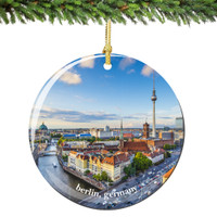 Berlin Germany Christmas Ornament Porcelain Skyline