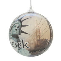 "4"" NYC Landmarks Ball Ornament"