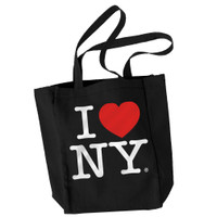 I Love NY Tote Bag Black Canvas