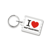 I Love San Francisco Key Chain