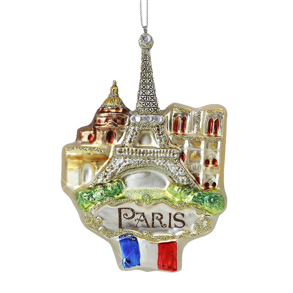 Paris Icons Glass Ornament