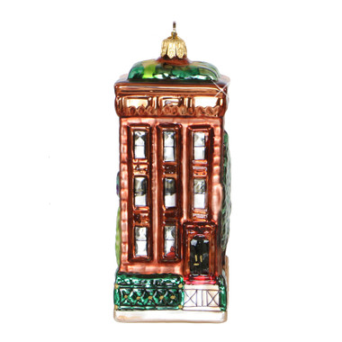 NYC Brownstone Ornament - Glass
