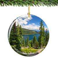 Lake Tahoe Christmas Ornament