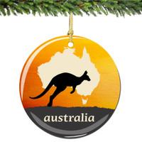 Australia Christmas Ornament Porcelain