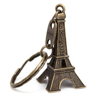 Bronze 3D Eiffel Tower Key Chain