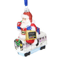 Santa's NYC Subway Christmas Ornament
