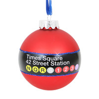 Times Square Subway Station Glass Ball Ornament