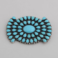 Turquoise and Sterling Silver Pendant by Steve Yellowhorse