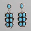 Rectangular Turquoise Dangle Earrings