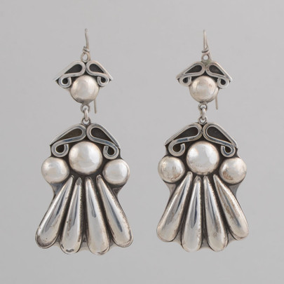 Bold contemporary sterling silver earrings.