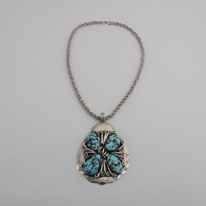 Kingman turquoise nugget pendant