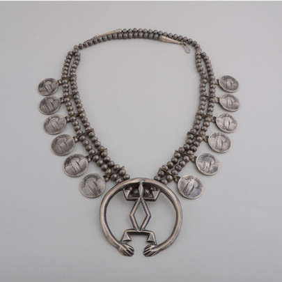"""The beads and unusual""""naja,"""" plus the Liberty quarters...this is a great piece!"""