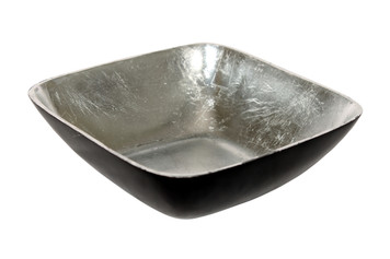 KENU Square Metal Bowl with Silvered Interior