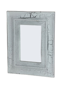 PALE Rectangular Mirror - White-washed finish.