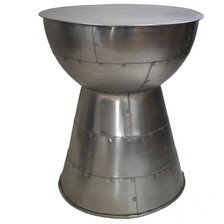 CAIRO silvered metal accent table.