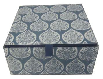 EVA BLUE FLAP Jewelry box.