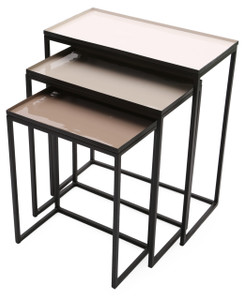 GRAYWOLF Enameled Gray Nesting Tables